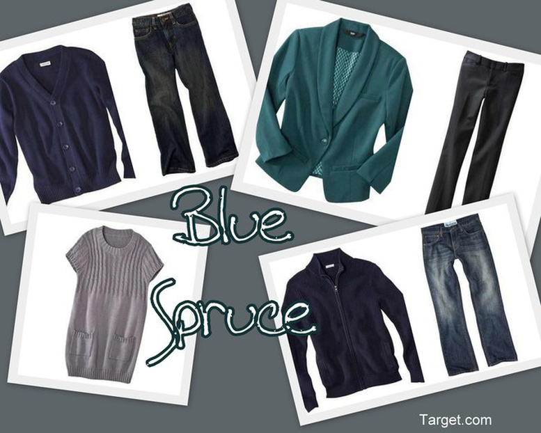 what to wear for holiday photo blue spruce